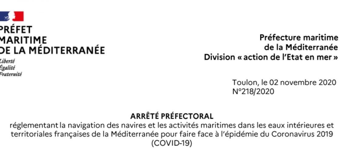 arreté prefecture maritime